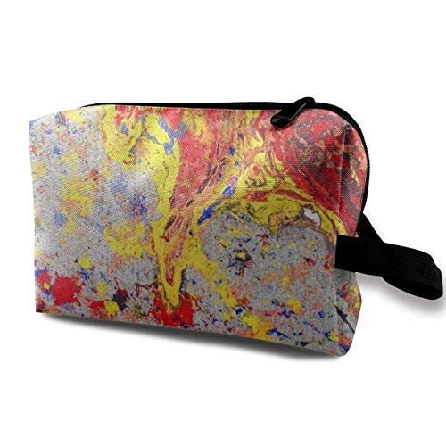 Colorful Yellow Modern Painting Storage Bag Travel Receive Bag Storage Capacity Bags