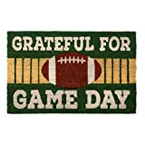 Northeast Home Goods Entryway Coir Doormat, 18-Inch x 28-Inch (Football Grateful for Game Day)
