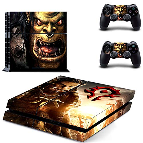 TSWEET World Of Warcraft Style Ps4 Skin Sticker For Playstation 4 Console & 2 Controllers Decal Vinyl Protective Skins