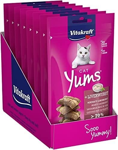 Vitakraft Cat YUMS - Friandise pour Chat au Pâté de Foie - Lot de 9 sachets fraîcheur de 40 g