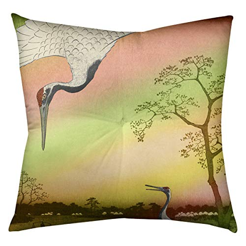 ArtVerse Katelyn Smith 40 x 40 Floor Double Sided Print with Concealed Zipper /& Insert Mississippi Watercolor Pillow