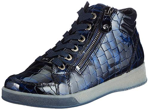 ARA Damen ROM Sneaker, Marineblau, silberfarben, 36.5 EU