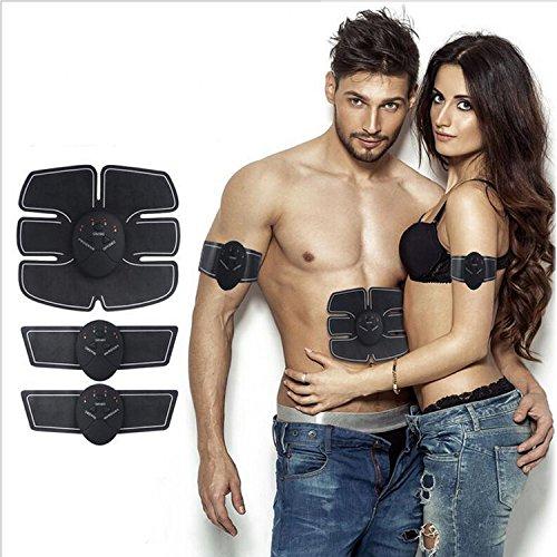 2x Estimulsdor muscular EMS abdominal | Smart Fitness Mobile Gym | Estimulación Muscular Masajeador Eléctrico Cinturón Abdomen/Brazo/Piernas/Glúteos