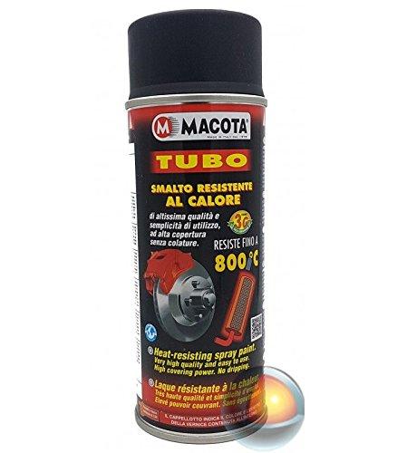 MACOTA 08008 Tubo Smalto Resistente al Calore, Nero