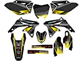 2008-2017 RMZ 450, Surge Black Complete Graphics Kit, Senge Graphics, Compatible with Suzuki