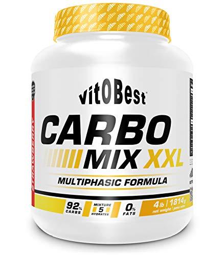 Carbohidratos CARBO MIX XXL 4 lb - Suplementos Alimentación y Suplementos Deportivos - Vitobest (Fresa)