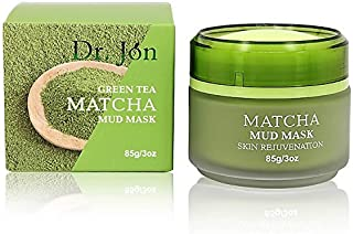 Best Matcha Green Tea Facial Mud Mask, Removes Blackheads, Reduces Wrinkles, Nourishing, Moisturizing, Improves Overall Complexion, Antioxidant, Skin Lightening & Anti Aging, All Skin Face Types