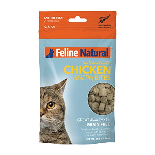 Feline Natural Grain-Free Freeze Dried Cat Treats, Chicken 1.76oz