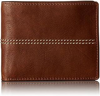 Fossil Men's Turk Leather RFID Blocking Bifold Flip ID Wallet