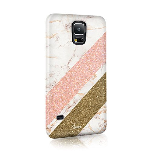 Iphone 4 & 4s Tirita Hard Case Phone Cover Golden Marble Pink PRINTED...