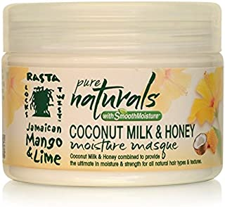 Jamaican Mango and Lime Pure Naturals with Smooth Moisture Creme Masque, Coconut Milk & Honey, 12 Ounce (Pack of 6)