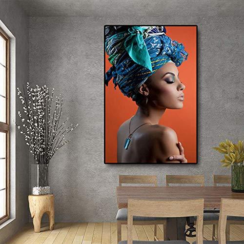 Gemälde Kunstwerk Poster Frau Mit Blauem Hut 60x90Cm, Geschenk Küche Wandbild Bild Moderne Poster Ölgemälde Wohnzimmer Schlafzimmerwandbild Bild Anpassbare Größe