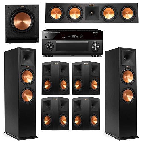 Review Klipsch 7.1 Ebony System with 2 RP-280F, 1 RP-450C, 4 RP-250S, 1 SPL-100 Sub, 1 RXA3080 Recei...