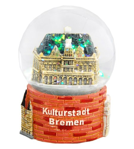 Souvenir Schneekugel Kulturstadt Bremen - 30007