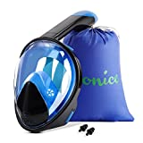 WONICE Snorkel Mask Full Face for Adults and Kids,Dry Top System Safe...
