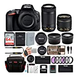 Nikon D5600 24.2MP DSLR Camera with 18-55mm and 70-300mm Lenses...