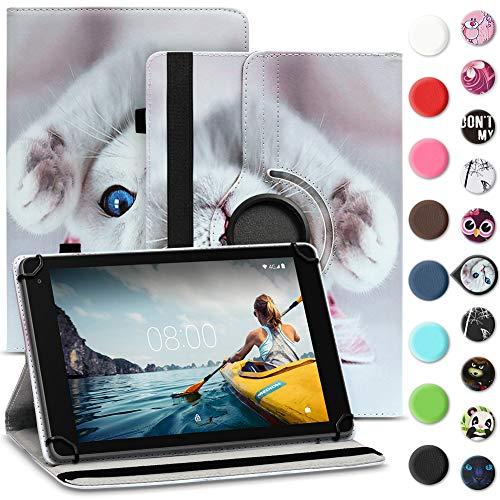 Tablet Hülle kompatibel für Medion Lifetab E6912 Tasche Schutzhülle Hülle Cover aus Kunstleder Standfunktion 360° Drehbar, Farben:Motiv 6