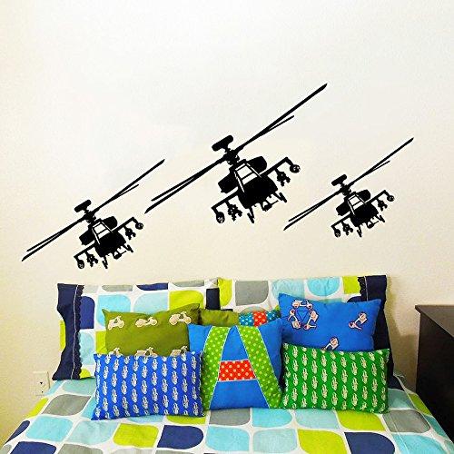 Sticker Mural Autocollant De Vinyle Stickers Art Intérieure Décor Militaires Aéronefs Plan L'air Avion Combattant Avion Copter Hélicoptère Aviation An259