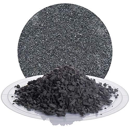 Schicker Mineral Basaltsplitt anthrazit 25 kg in den Größen 8-16 mm, 16-22 mm, 16-32 mm, 32-56 mm, ideal zur Gartengestaltung, schwarzer Naturstein Splitt (Basalt Splitt, 2-5 mm)