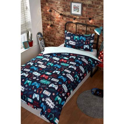 ONLINE DEALS OUTLET New Comfortable Fashion Single Duvet Set - Gaming Duvet Cover Bedding Set Made of 100% Polyester
