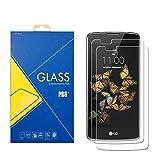 iLeaf - Pack de 2 protectores de pantalla de cristal templado para Samsung Galaxy LG K8 / K8 4G / K350E / K350N / K350DS - Pantalla antigolpes y antiarañazos - Película protectora compatible con LG K8