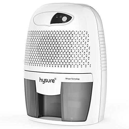 Hysure Household 500ml Portable Mini Dehumidifie Electric, Deshumidificador, Home Dehumidifier for Bathroom Crawl Space Bedroom RV Baby Room Gray