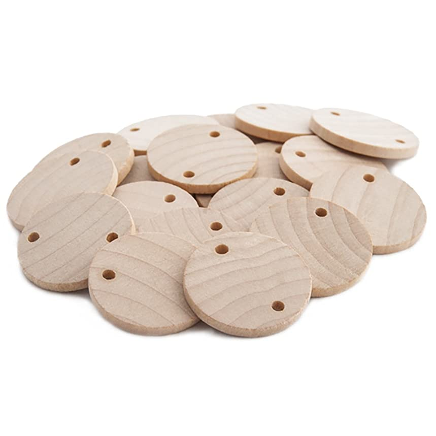 Round 1-1/4 inch Real Wooden Board Tags – Circular Wooden Tags For Birthday Boards, Chore Boards or other Special Dates - Bag of 100