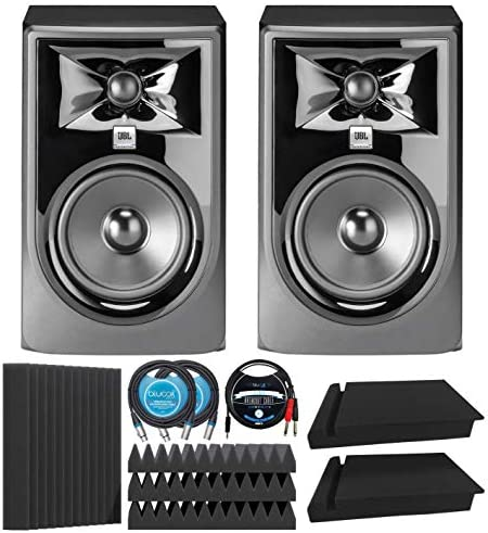JBL Professional 305P MkII Next Generation Studio Monitors 2 pk Bundle with Blucoil 12 Acoustic product image