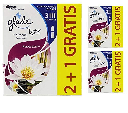 potente para casa Ambientador aromático Grade Relax Zen One Touch [Pack 9 uds], 3 repuestos, 3