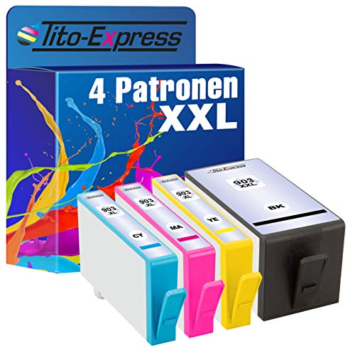 Tito-Express PlatinumSerie 4X Tintenpatronen XXL kompatibel mit HP-903XXL HP-903XL | Geeignet für HP OfficeJet Pro 6860 6868 6900 6950 6960 6970 6975 6978