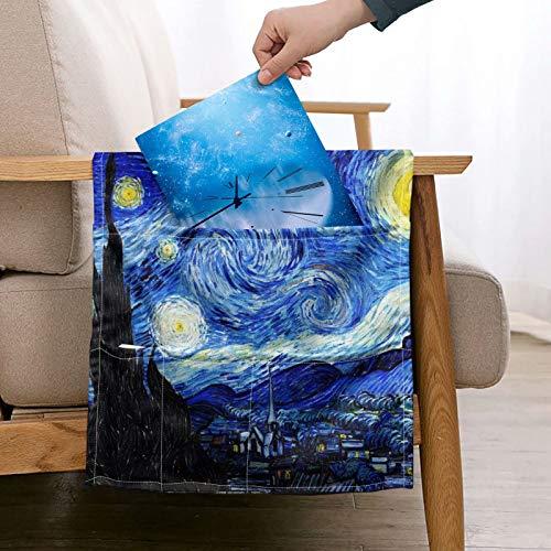 chaqlin Van Gogh - Organizador de bolsillo para sofá con brazo estrellado para cama, con 5 bolsillos para mando a distancia de TV, revista, libros, teléfono celular, gafas