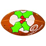 OPTIMUM garçon Motif Pudding de Noël Ballon de Rugby Mini Multicolore