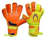 HO Soccer One Kontakt Evolution Orange Spark Guanti da Portiere, Unisex Adulto, Arancione/Lima, 8,5