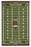 Furnish My Place 700 Corner Football Play Area Rug for Kids Playroom, Bathroom & Kindergarten Classroom, Corner Football Field Ground, Anti Skid Rubber Backing, Rectangle, Green (4'5'x6'9')