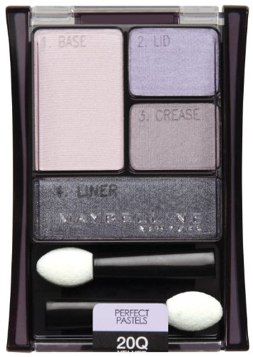 Maybelline New York Expert Wear Eyeshadow Quads, 20q Velvet Crush Perfect Pastels, 0.17 Ounce