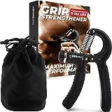 Grip Strength Trainer, Adjustable Hand Grip Strengthener, Forearm Exerciser, Finger Streng...