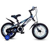 AUTOKS Bicicletas Scooters al Aire Libre para niños Niño Niña Bicicleta 3~15 años Bicicleta de Ejercicio Triciclo Niños Bicicleta de montaña Cochecito (Color: Rojo, Tamaño: 14 Pulgadas)