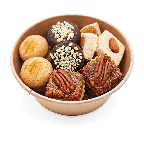 Handgemachte Kekse ohne Zuckerzusatz, zuckerfreie Keks-Variation, hochwertig, 360g, Mischung ohne Weizen, mit Xylit gebacken, in umweltfreundlicher BioBox