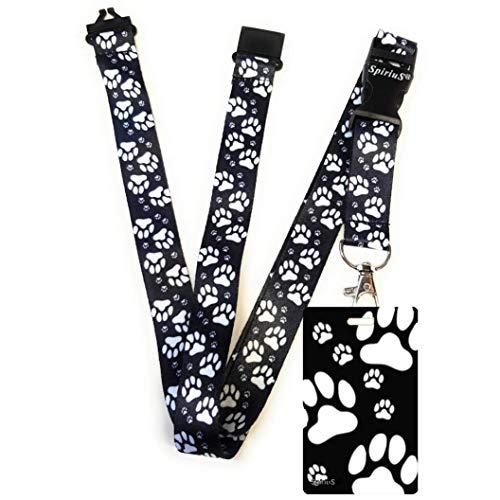 SpiriuS Lanyard Neck Strap with Unique Badge Holder (Unique Animal Paws)