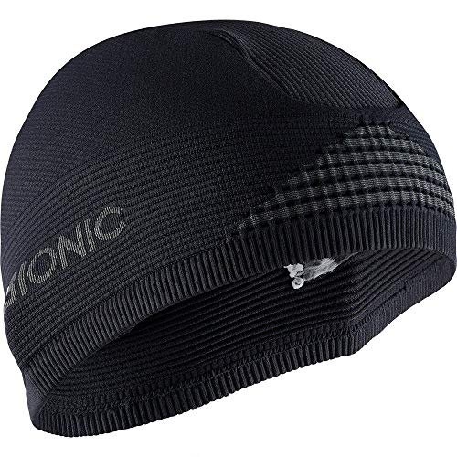 X-Bionic Helmet cap 4.0, Headwarmer Unisex – Adulto, Black/Charcoal, M