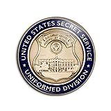 Photo de Badge 38mm USA Service Secret United States Secret Service Uniformed Division Maison Blanche Pins Bouton Epinglette par