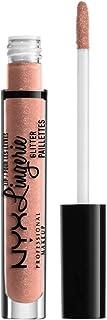 NYX PROFESSIONAL MAKEUP Lip Lingerie Glitter, Lip Gloss - Shy (True Nude)
