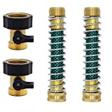Twinkle Star Heavy Duty Brass Shut Off Valve | Garden Hose Extension Adapter