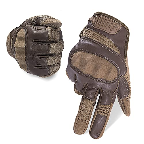 AMOSTBY Touch Screen Motorcycle Gloves for Men Military,Hard Knuckle Paintball Gloves,Full Finger...