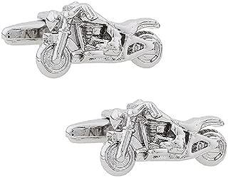 Motorcycle Street Bike Cycle Cruiser Pair Cufflinks in a Presentation Gift Box & Polishing Cloth