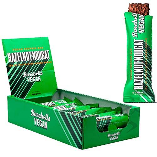 Barebells Vegan High Protein Bars 12 x 55g Low Sugar Mixed Snack Barbells Bar (Hazelnut Nougat)