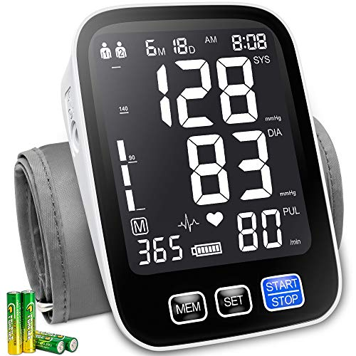 Bestune Blood Pressure Monitor - Upper Arm Automatic Accurate Digital BP Machine Kit with Extra Large Cuffs for Home Use(9-17inch),XL Backlit Display,10000 Readings