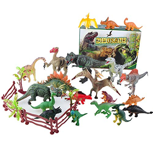 YAOASEN Dinosaur Toys for Boys and Kids Realistic Action Figures Educational for KidsIncluding TRex Velociraptor Etc27 PcsGift for Kids Age 3 to 7