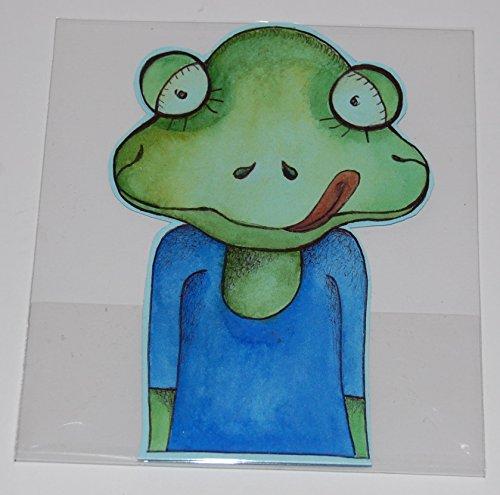 Lesezeichen aus Papier, Frosch, Original