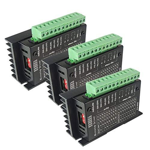3PCS TB6600 4A 9-42V Stepper Motor Driver Controller Single-Axis tb6600 2/4 Phase Hybrid Stepper Motor Driver Board for 3D Printer/CNC